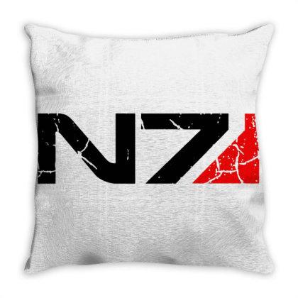 Mass Effect N7 Throw Pillow Designed By Sari