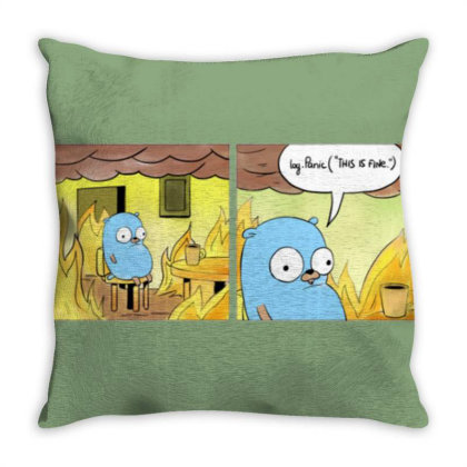 This Is Fine Dude Throw Pillow Designed By Sari