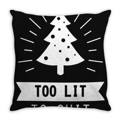 Funny Christmas Tree Throw Pillow Designed By Sari