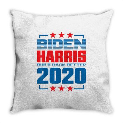 Biden Harris 2020 Build Back Better Throw Pillow Designed By Kakashop