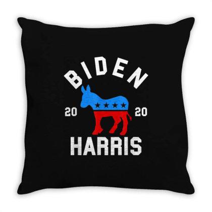 Biden Harris 2020 Democrat Donkey Throw Pillow Designed By Kakashop