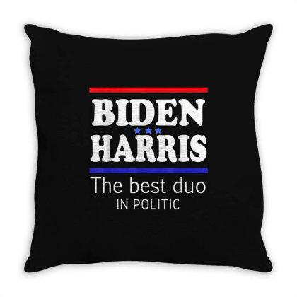 Biden Harris 2020 The Best Duo In Politic Throw Pillow Designed By Kakashop