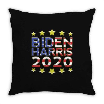 Joe Biden & Kamala Harris Throw Pillow Designed By Kakashop