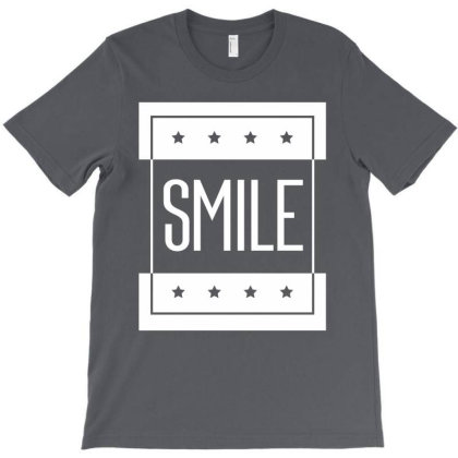 Smile Typography - Motivational Quote T-shirt Designed By Diogo Calheiros