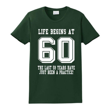 60th Birthday Life Begins At 60 White Ladies Classic T-shirt Designed By Teresabrador