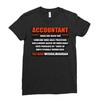 Accountant Noun Ladies Fitted T-shirt Designed By Bettercallsaul