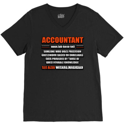Accountant Noun V-neck Tee Designed By Bettercallsaul