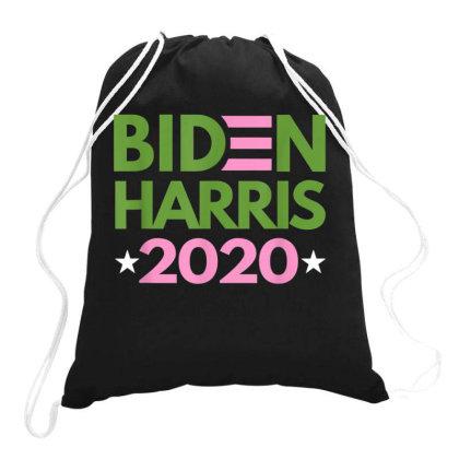 Biden Harris 2020 Pink Green Democrat Drawstring Bags Designed By Kakashop