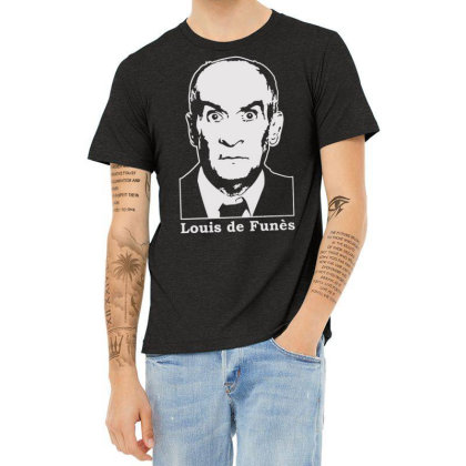 Louis De Funes Heather T-shirt Designed By Lyly