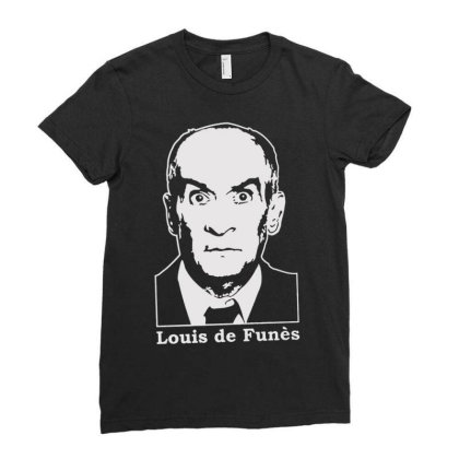 Louis De Funes Ladies Fitted T-shirt Designed By Lyly
