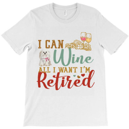 I Can Wine All I Want I'm Tired Retro Vintage Shih Tzu T-shirt Designed By Vip.pro123