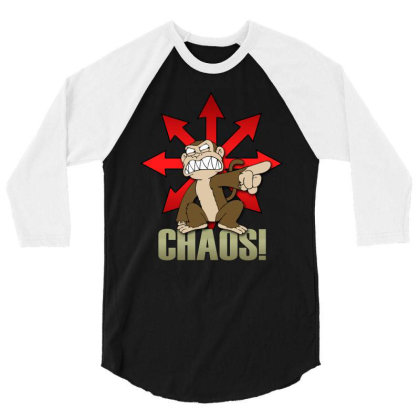 Chaos Logo 3/4 Sleeve Shirt Designed By Frado47