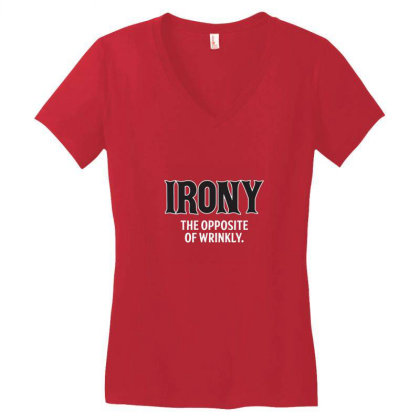 Irony Women's V-neck T-shirt Designed By Brendea