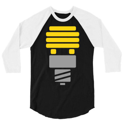 Bright Idea 3/4 Sleeve Shirt Designed By Anma4547