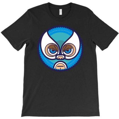 Lucha Libre   Blue T-shirt Designed By Enjang