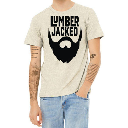 Lumber Jacked Heather T-shirt Designed By Enjang