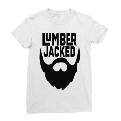 Lumber Jacked Ladies Fitted T-shirt Designed By Enjang