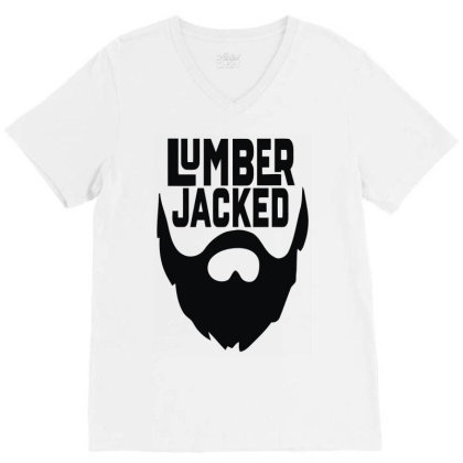 Lumber Jacked V-neck Tee Designed By Enjang