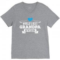 worlds best grandpa ever 1 V-Neck Tee | Artistshot
