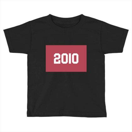 2010 Shirt, Man's / Women's Black Shirt, Printed Tee, Fashion Top... Toddler T-shirt Designed By Word Power