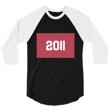 2011 Shirt, Man's / Women's Black Shirt, Printed Tee, Fashion Top... 3/4 Sleeve Shirt Designed By Word Power