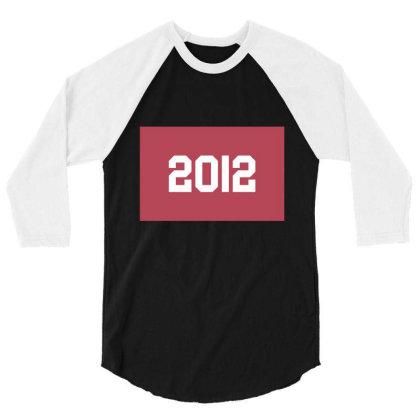 2012 Shirt, Man's / Women's Black Shirt, Printed Tee, Fashion Top... 3/4 Sleeve Shirt Designed By Word Power