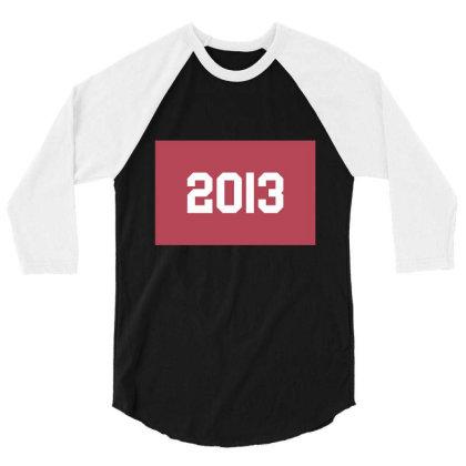2013 Shirt, Man's / Women's Black Shirt, Printed Tee, Fashion Top... 3/4 Sleeve Shirt Designed By Word Power
