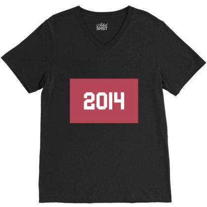 2014 Shirt, Man's / Women's Black Shirt, Printed Tee, Fashion Top... V-neck Tee Designed By Word Power