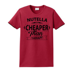 Nutella Is Cheaper Than Therapy Ladies Classic T-shirt Designed By Sabriacar