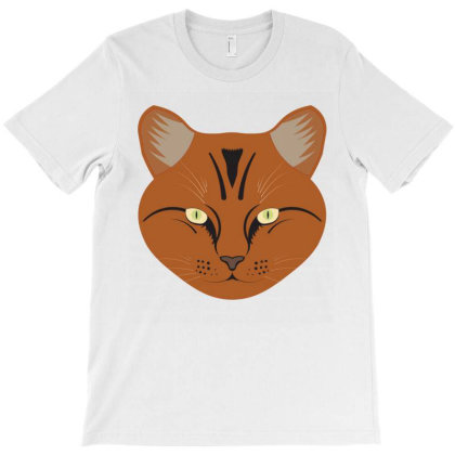 Cat Face T-shirt Designed By Emardesign
