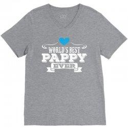 worlds best pappy ever 1 V-Neck Tee   Artistshot