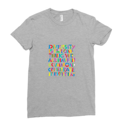 Diversity Ladies Fitted T-shirt Designed By Rava Kuncara