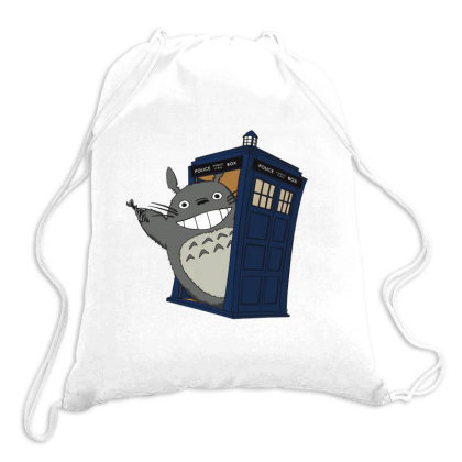 Totoro Meets The Tardis Drawstring Bags Designed By Simponie