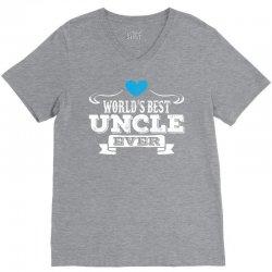 worlds best uncle ever 1 V-Neck Tee | Artistshot