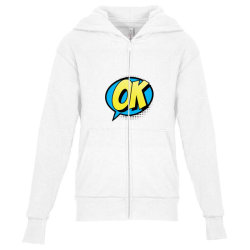 Comic Text Art Youth Zipper Hoodie | Artistshot
