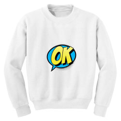 Comic Text Art Youth Sweatshirt | Artistshot
