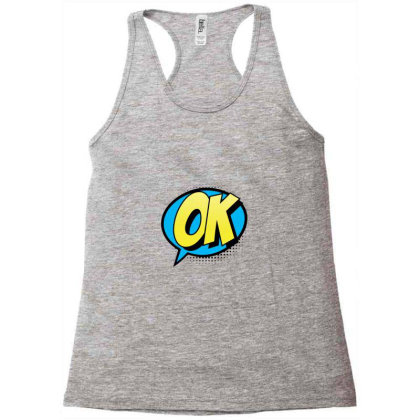 Comic Text Art Racerback Tank Designed By Chiks