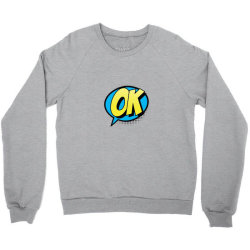 Comic Text Art Crewneck Sweatshirt | Artistshot