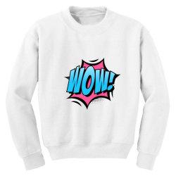 Comic Text Art Youth Sweatshirt | Artistshot