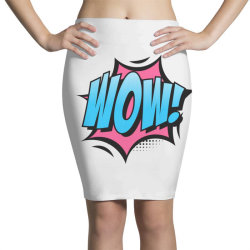 Comic Text Art Pencil Skirts | Artistshot