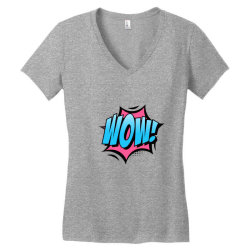 Comic Text Art Women's V-Neck T-Shirt | Artistshot