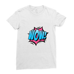 Comic Text Art Ladies Fitted T-Shirt | Artistshot