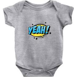 Comic Text Art Baby Bodysuit   Artistshot