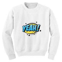 Comic Text Art Youth Sweatshirt   Artistshot