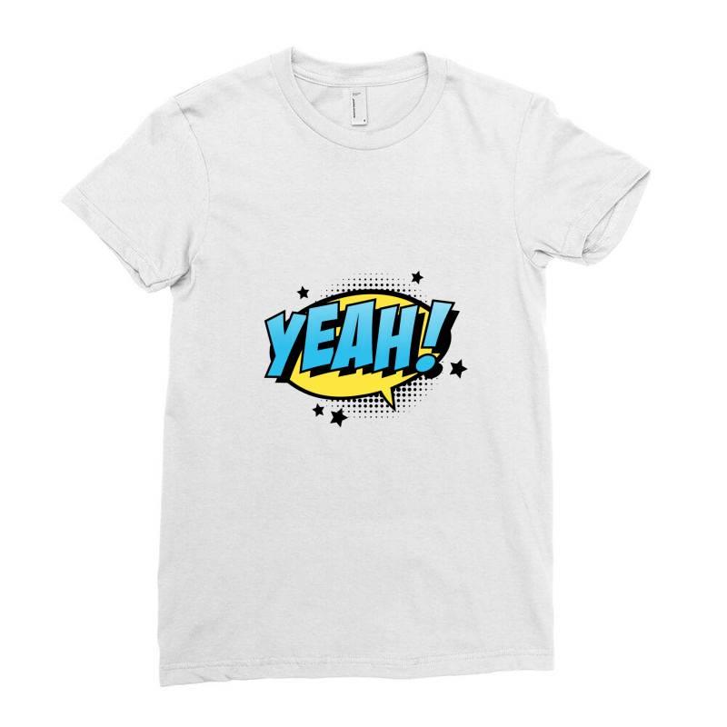 Comic Text Art Ladies Fitted T-shirt | Artistshot