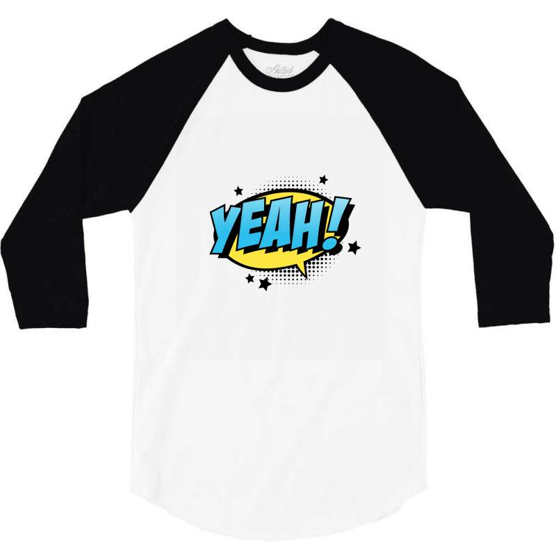 Comic Text Art 3/4 Sleeve Shirt | Artistshot