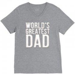 worlds greatest dad V-Neck Tee   Artistshot