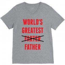 worlds greatest farter father V-Neck Tee | Artistshot