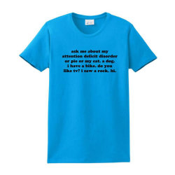 Ask Me About My Attention Deficit Disorder Ladies Classic T-shirt Designed By Jomadado
