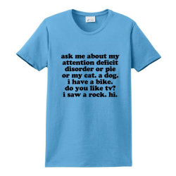 Ask Me About My Adhd / Add Ladies Classic T-shirt Designed By Jomadado